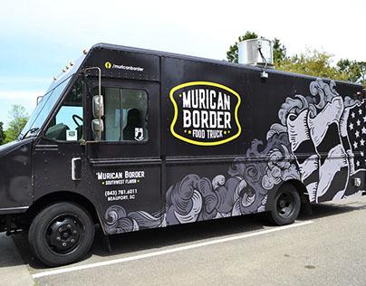 'Murican Border - Food Truck Vehicle Wrap and Branding