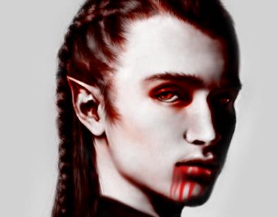 "Digital Painting ""Vampire's Portrait"""