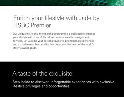 Jade by HSBC Premier Homepage   DigitasLbi   2017