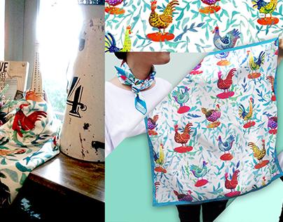 Pattern Design for Kanigara Illustration