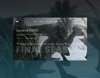 Game of thrones Landing page (HBO) website