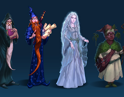 Characters Design (the Last Touch game)