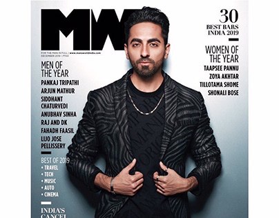 Ayushmann for Cover of Mans world