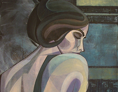 """Sensual 2"" Acrylic on Canvas 80Hx60Wx2 [cm]"