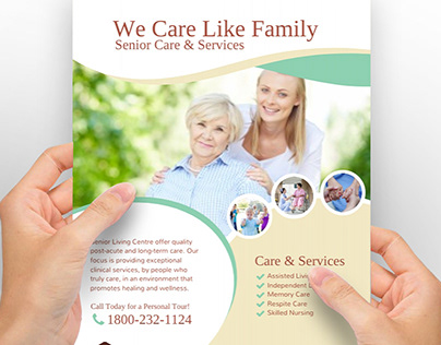 Senior Care & Services Flyer Poster