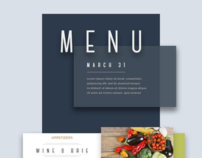 Restaurant Daily/Weekly Newsletter Design