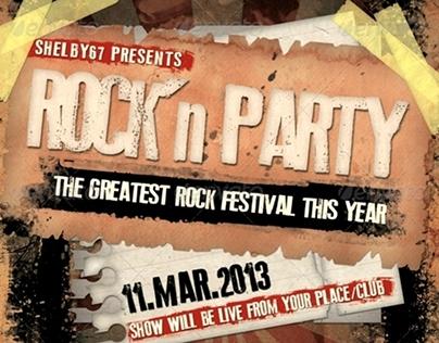Rock Music Event Flyer / Poster Vol.3