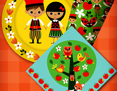 Kids Party Paper featuring Polish Traditional Dress