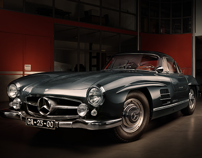 """300SL """"Gullwing"""" Light and Color Grading Study"""
