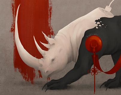 White Rhino For Dada Salon Art Gallery