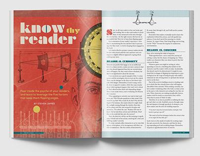 Writer's Digest Magazine spread