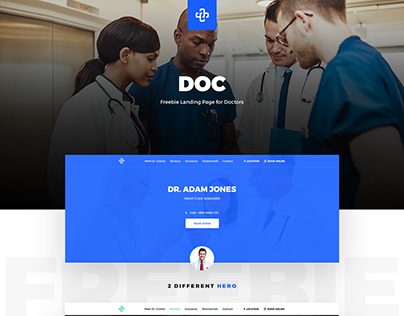 Doc - Freebie Landing Page PSD for Doctors