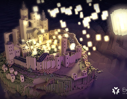Tangled castle and lanterns