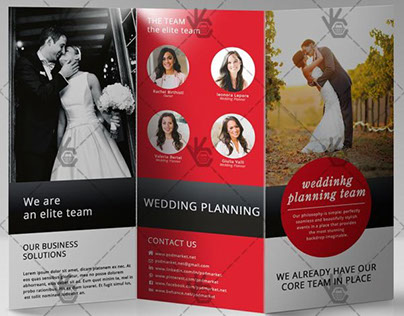 Wedding – Free Tri-Fold Brochure PSD Template