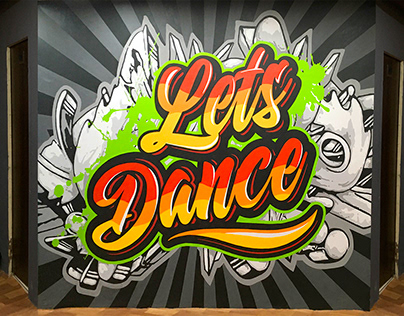 Pulse Fitness Gym mural artwork