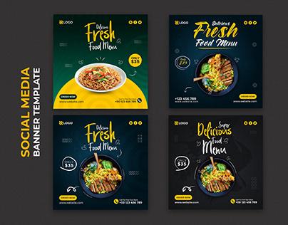 Food Social Media Design Template