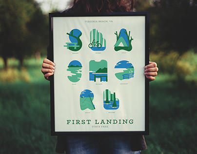 First Landing State Park: Typographic Poster