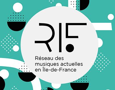 Logo and brand design for RIF (music association)