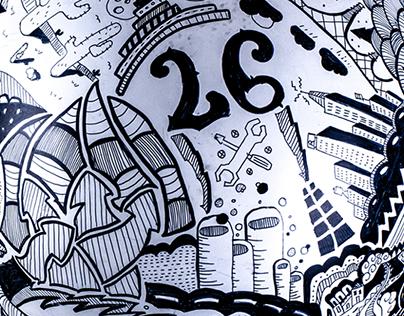 Doodle/Sharpie Helmet