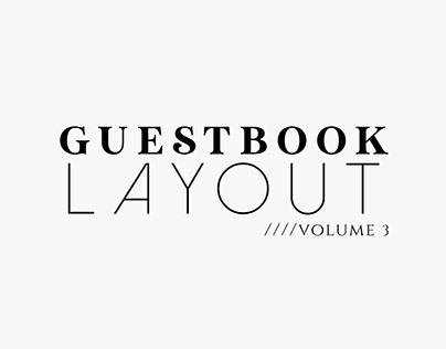 Guestbook Layout Vol. 3