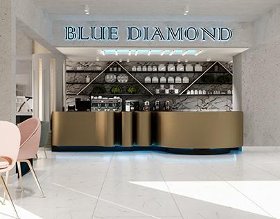 BLUE DIAMOND COFFEE SHOP INTERIOR SHOT