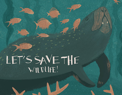 "POSTERS ""LET'S SAVE THE WILDLIFE!"""