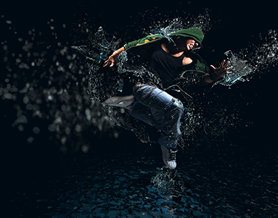 Splash Dance 3D composite