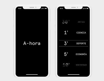 A-hora — App Design