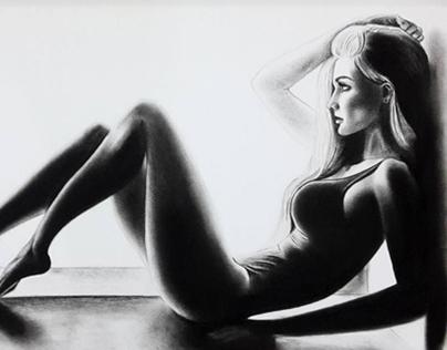 Charcoal Drawings - Highlights and Shadows - 3