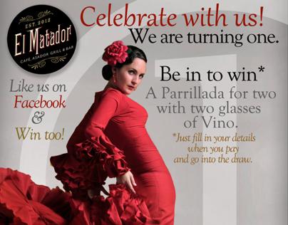 Promotional Material for El Matador Restaurant