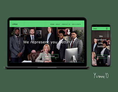 Law Firm Landing page website