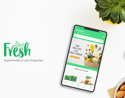 Fresh Grocery App - UI & UX Design