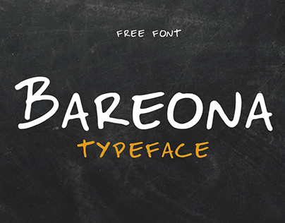 BAREONA - FREE HANDWRITTEN DISPLAY TYPEFACE