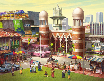 Festival promotional illustration