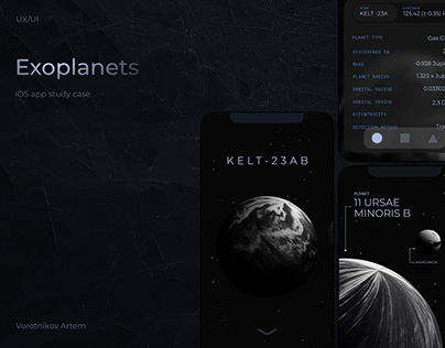 Exoplanets mobile app. UX/UI. Case study