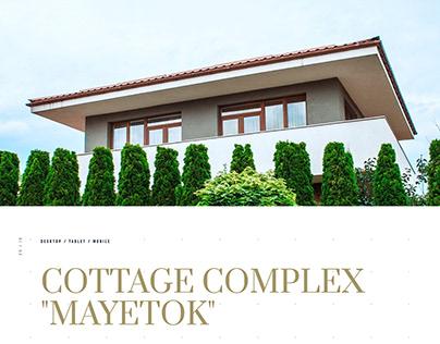 """Design concept for Cottage complex """"Mayetok"""""""