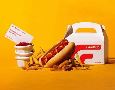 Foodhub - Food Delivery Logo & Branding