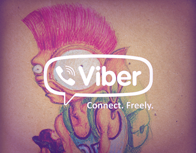 Character and sticker design for Viber