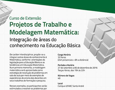 Cartaz - Projetos de Trabalho e Modelagem Matemática