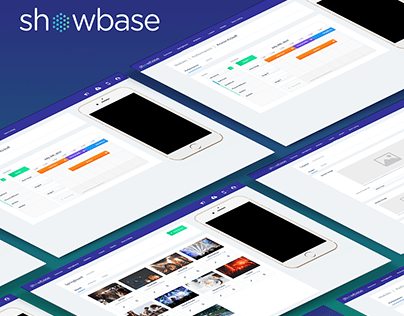 Showbase Webapp UX / UI Design