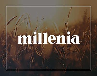 Millenia font