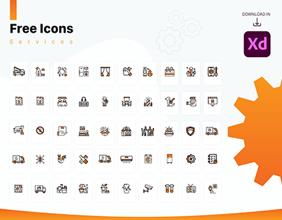 """Free Icons (services) in Adobe XD """"Vector"""""""