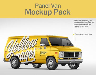 Panel Van Mockup Pack