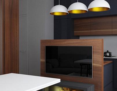 Дизайн интерьера для квартиры площадью 60 м2