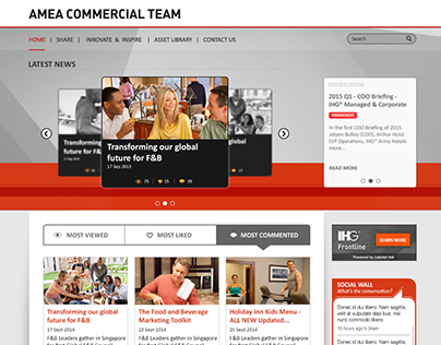 AMEA Commercial Team - Microsite