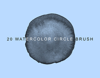 Free 20 Circle Watercolor Photoshop Brush & PNG