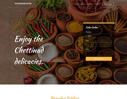 website wireframe for restaurant