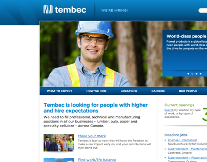 Tembec - Microsite recrutement