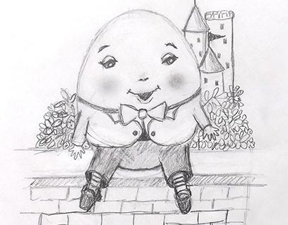 Humpty Dumpty Sketch