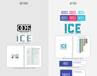 OOSS branding and promotional graphic materials